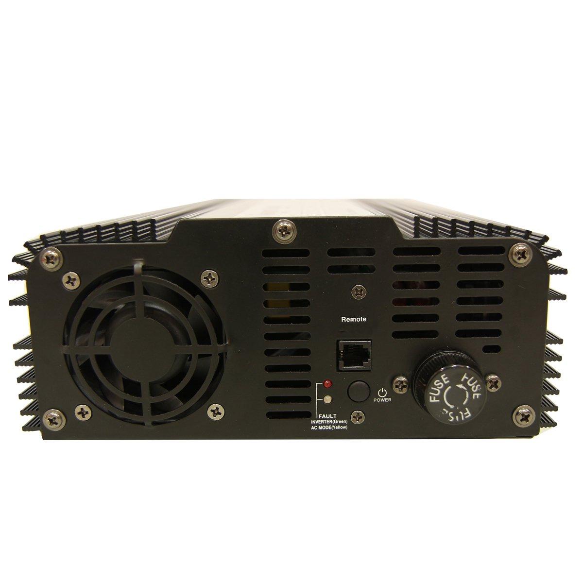 AIMS Power 1200 Watt Pure Sine Inverter w// 10 Amp Transfer Switch and 10 Power Cord PWRIX120012SC