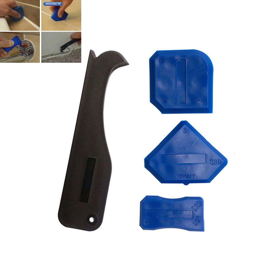 ♛Euone Hand Tools ♛Clearance♛, Silicone Sealant Spreader Spatula Scraper Cement Caulk Removal Tool 4pcs/Set