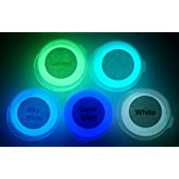 Neutral 5 Color Pack Glow In The Dark Pigment Powder - 12g Each 60g Total