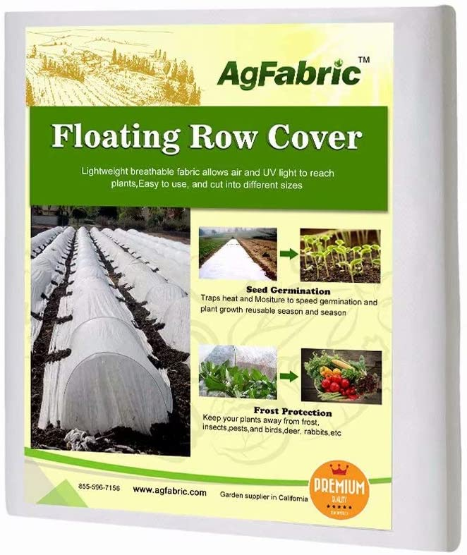 Agfabric Warm Worth Floating Row Cover Plant Blanket, 0.55oz Fabric of 10x12ft for Frost Protection, Harsh Weather Resistance Seed Germination