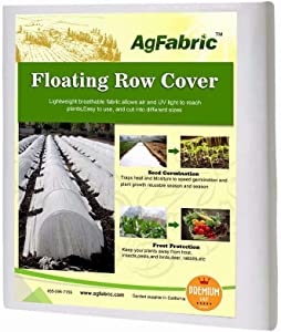 Agfabric Floating Row Covers 7×25ft Plant Covers Freeze Protection, Frost Blanket for Vegetables & Plants