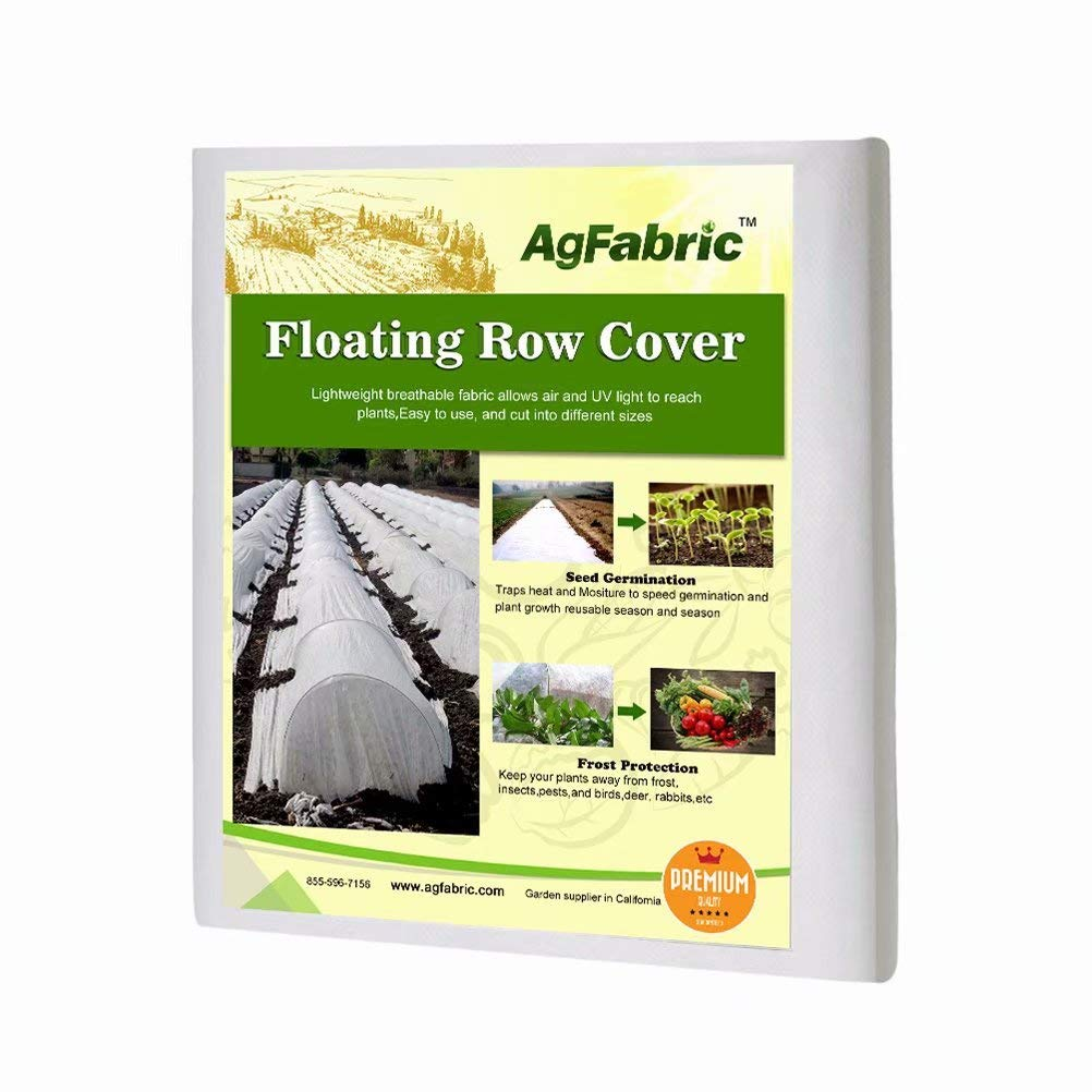 Agfabric Warm Worth Heavy Floating Row Cover Plant Blanket, 0.9oz Fabric of 5x25ft for Frost Protection, Harsh Weather Resistance Seed Germination