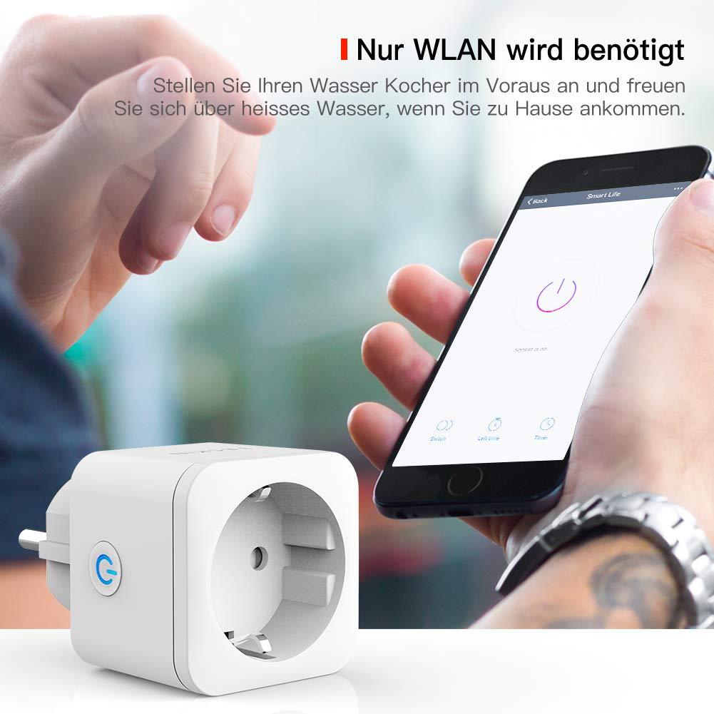 funciona con amaon Alexa y Google Home con aplicaci/ón steurung en cualquier lugar y tiempo/ /2/Packs Echo, Echo Dot Wifi Smart enchufe inteligente Mini Plug teckin Alexa WiFi enchufe fernbedienbar