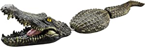 Floating Alligator Decoy for Pool Pond Fake Crocodile Park Decor Water Feature Ornament Heron Scare Look Like Real Tricky Tool for Summer Holiday