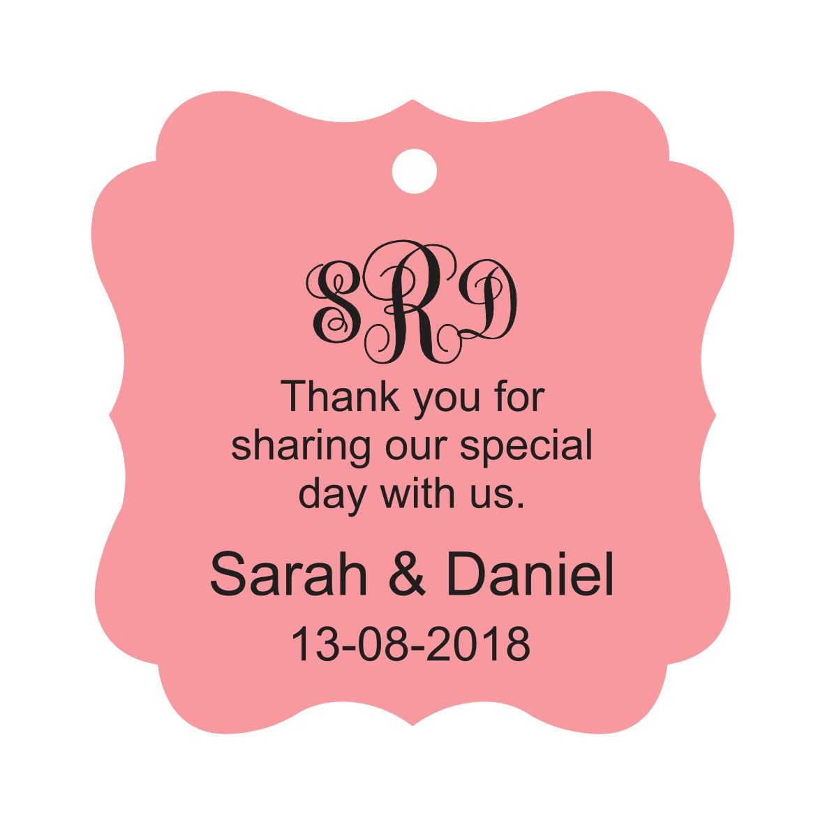 Amazon.com : Darling Souvenir Thank You For Sharing Our Special Day ...