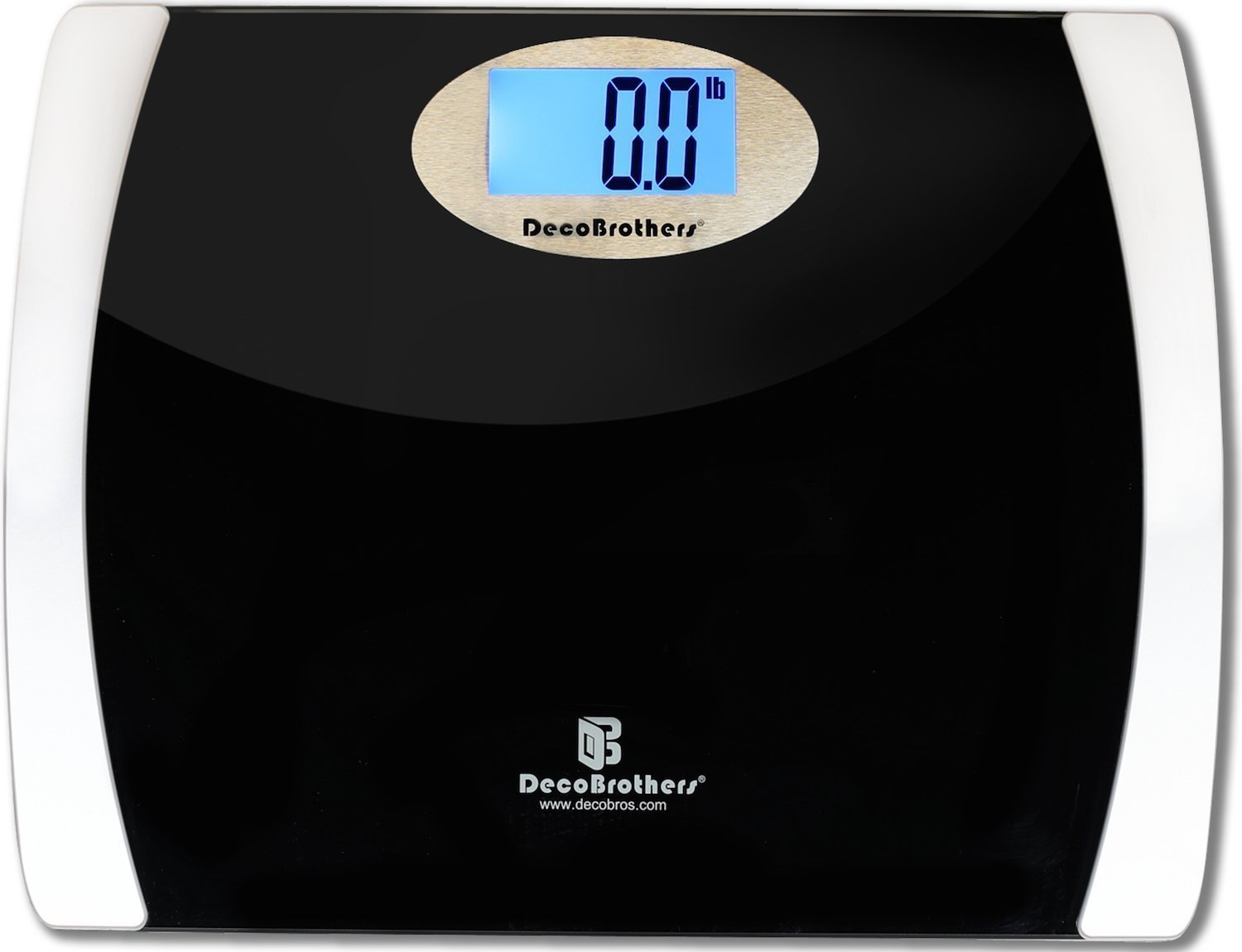 DecoBros 400lb Wide Platform Digital Bathroom Body Weight Scale with Large LCD Display, Step-On Startup