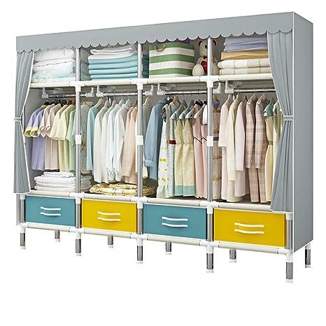 Amazon.com: YG-BY Wardrobes Portable Closet Shelves Thicker ...