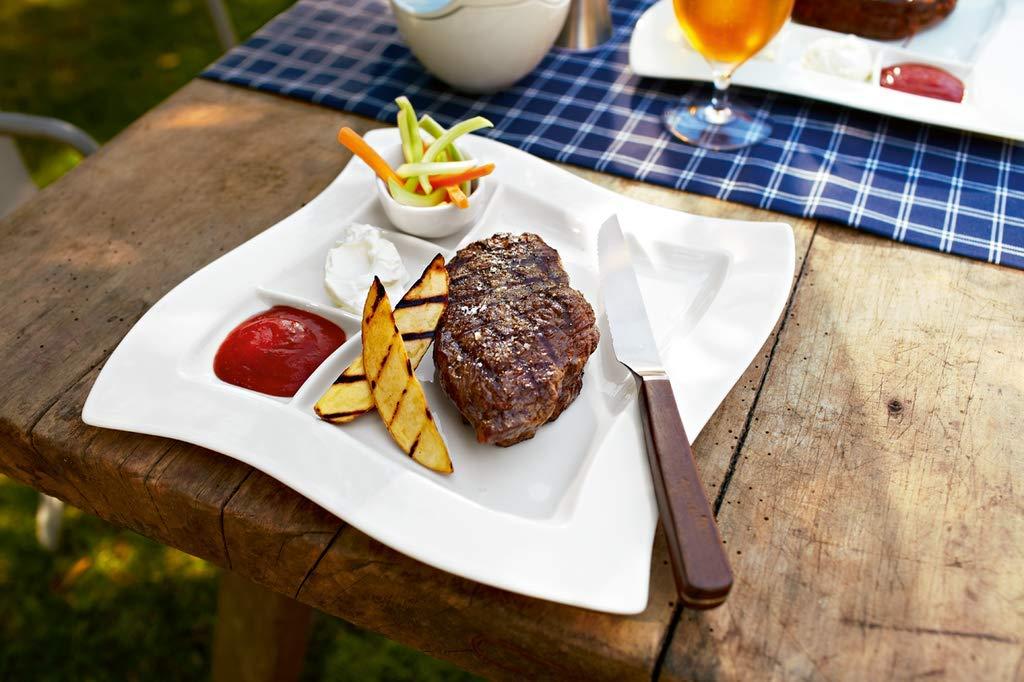 gefuellter fondue-teller bzw. grillteller