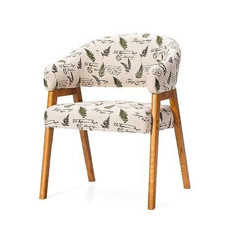 Wooden stool Sillas de Tela, Madera Maciza con reposabrazos ...