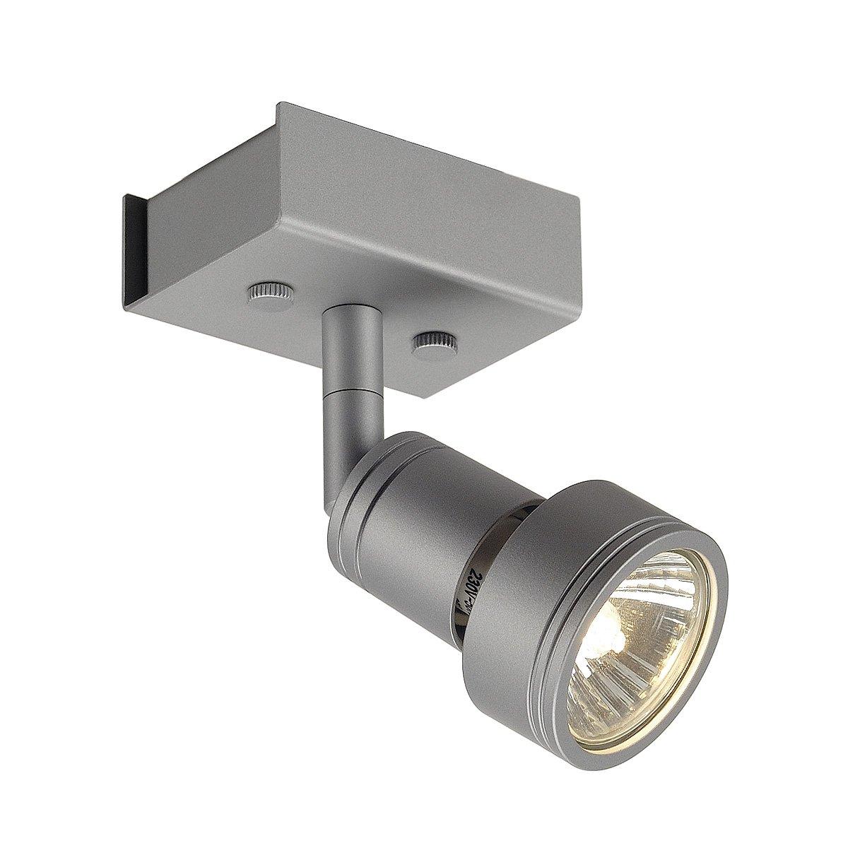 SLV LED Strahler ASTO dreh- und schwenkbar | Smarte Wand- und Decken-Leuchte zur individuellen Innen-Beleuchtung | Decken-Spot, Deckenfluter, Deckenstrahler, Decken-Lampe, Wand-Lampe | GU10, EEK bis A++ [Energieklasse A] 147444 147444 forhouse