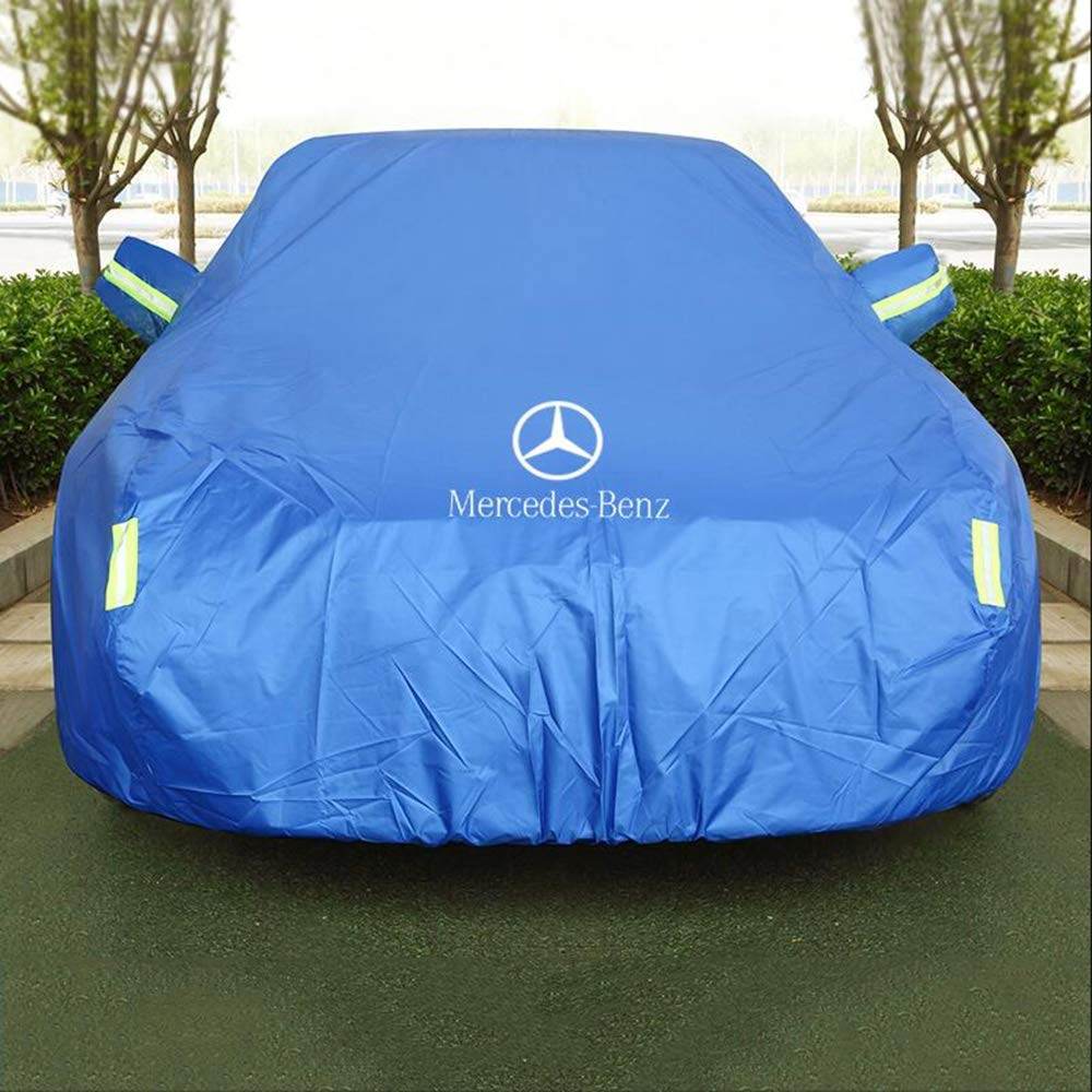 HFFTLH Special Thick Compatible with car Cover Mercedes-Benz C260, C200, C180, C300, E320, E300, E200,S600, S500, S450, S400, S350, S320,Blue,C300