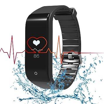 RIVERSONG Pulsera Deportiva Reloj Inteligente Fitness Tracker Monitor de Frecuencia Cardíaca Pulsera Deportiva Pulsera de Actividad Reloj Sedentario Reloj ...