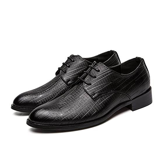 Amazon.com: Hilotu Mens Classic Plain Color Business Oxfords Anti-Slip Rubber Outsole Formal Shoes: Clothing
