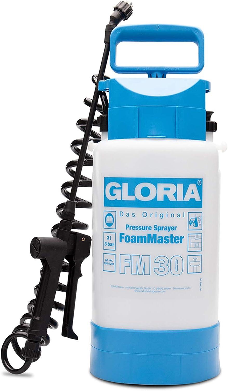 Gloria FM 30 Espumadora a presión de 3 litros con Manguera Espiral de 2 Metros