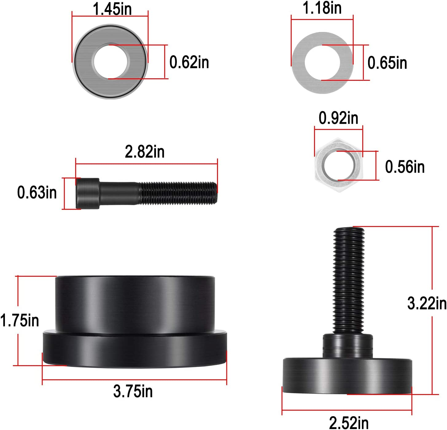 Crankshaft Front Seal Installer Alt 303-1259 ZTSE4691 for 6.4L Powerstroke Diesel F-250//350//450//550 2008-2010
