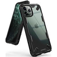 【Ringke】iPhone 11 Pro ケース iPhone11 Pro 5.8インチ スマホケース ストラップホール [米軍MIL規格取得] クリア 透明 落下防止 カバー Qi ワイヤレス充電対応 iPhone XI Pro ケース Fusion-X (Black ブラック)