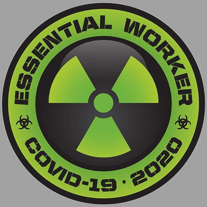 USA Essential Worker Round Oval Sticker 2 Inch Sticker Hot New Seller USA MADE