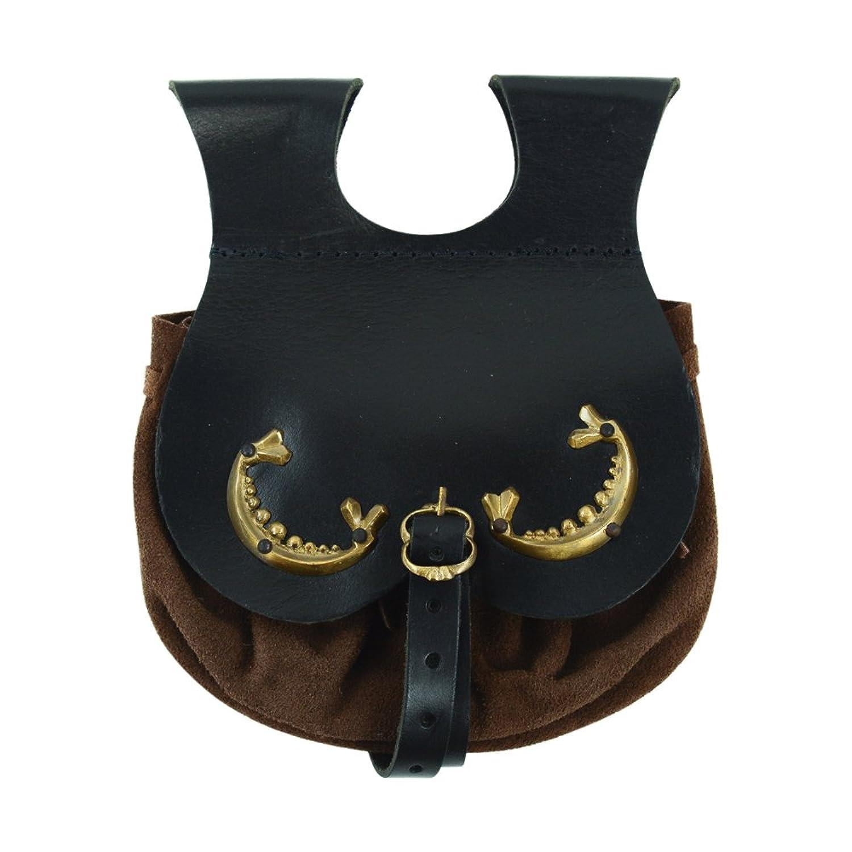 Medieval Leather & Brass Belt Satchel