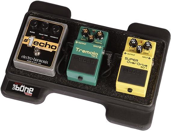 Gator Cases Mini Bone Rotationally Molded Polyethylene Guitar Pedal Board with Cinch Style Carry Bag; USA Made