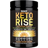 Keto Rise - Exogenous Ketone Powder with Organic Caffeine - Keto Morning Energy Formula Designed for Ketogenic Diet Support, Mood Boost and Fat Burn - 15 Servings. Amazing OJ Flavor.