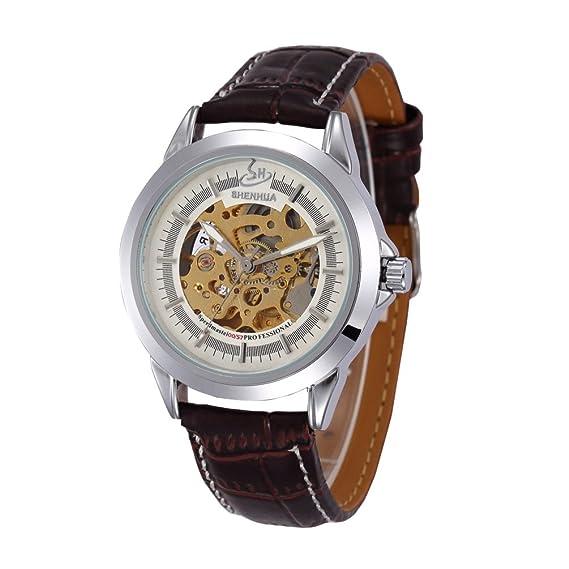 Reloj de pulsera analógico para hombre de aumento en el mundo de los relojes de muñeca