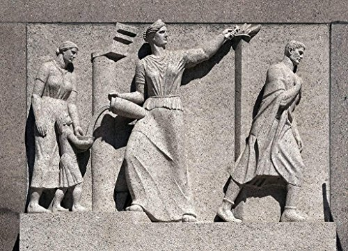 Photograph   Bas relief, on the 300 block of Indiana Ave, NW, Washington, D.C.  Fine Art Photo Reporduction 44in x 30in