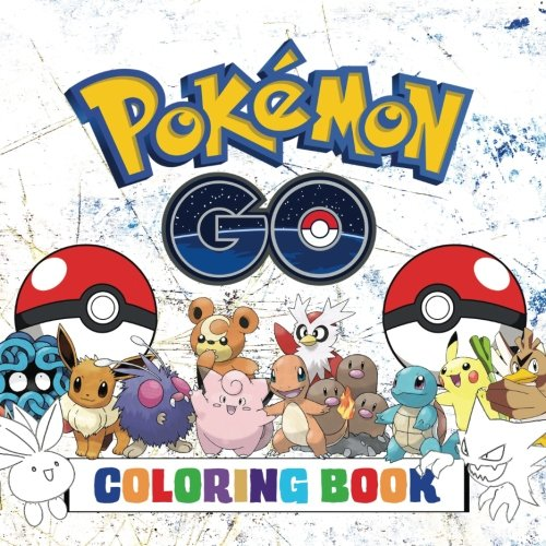 Pokmon Go Coloring Book: Fantastic kids coloring book containing ALL 251 Pokmon (1st & 2nd Generation) from the hit Pokmon Go game - 251 individual images to color!.