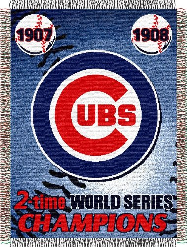 MLB Chicago Cubs Commemorative Woven Tapestry Throw, 48