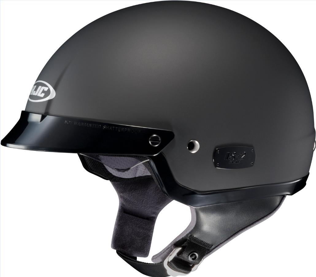 Matte Black Large HJC Helmets IS-2 Helmet (Light Silver, Small)