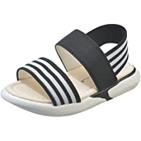 3.5-12Years Old Children Infant Kids Baby Girls Striped Elastic Beach Shoes Summer Sandals