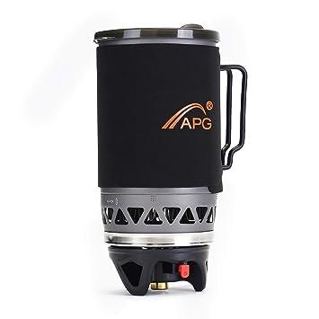 ShopSquare64 APG 1400ml Cã¡Mping Estufa de Cocina Horno de Olla Portã¡Til al Aire Libre Utensilios de Cocina Quemador de Gas propano: Amazon.es: Deportes y ...