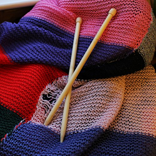 Knitting Needle Sizes For Beginners : Piece single point bamboo knitting needle set by curtzy