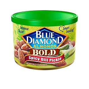 Blue Diamond Almonds, Bold Spicy Dill Pickle, 6 Ounce