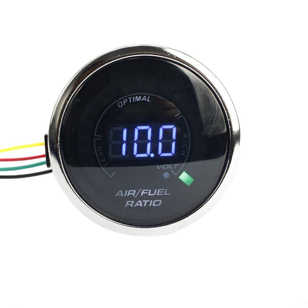 Rokoo 52 mm auto Air Fuel ratio gauge 20 LED elettrico digitale analogico ratio Meter auto indicatori