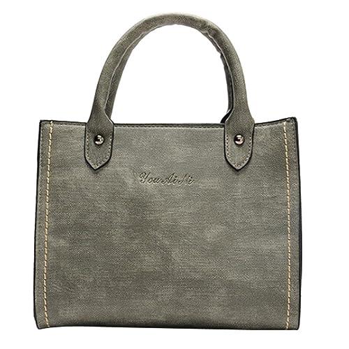 78a3c2eddfe916 Damen tasche sale, Frashing Damenmode Leder Schultertaschen mit  Umhängetasche Handtasche Handbag Shoulder Bag Shoulder Bag