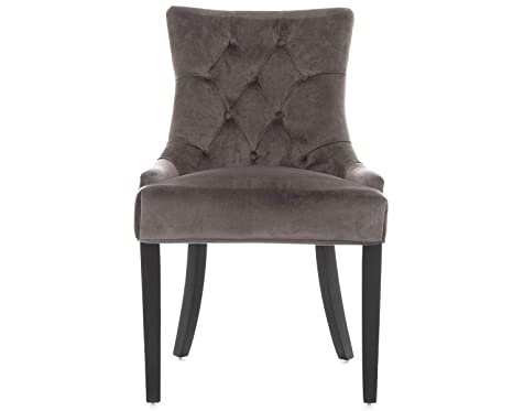 Pleasant Scoop Back Dining Chair In Grey Velvet With Chrome Knocker Gamerscity Chair Design For Home Gamerscityorg