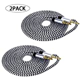 AUX Cable, LSVTR 2 Pack 3FT Nylon Braided Hi-Fi Sound Quality Audio Cable 3.5MM Male to Male Auxiliary Audio Cord for Car Stereos, iPhone, iPad, Beats Solo 2 3 Headphones, Samsung Galaxy