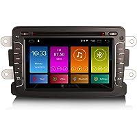 ERISIN 7 Pulgadas Android 10.0 Estéreo de Automóvil para Renault Dacia Duster Logan Sandero Dokker Incorporado CarPlay…