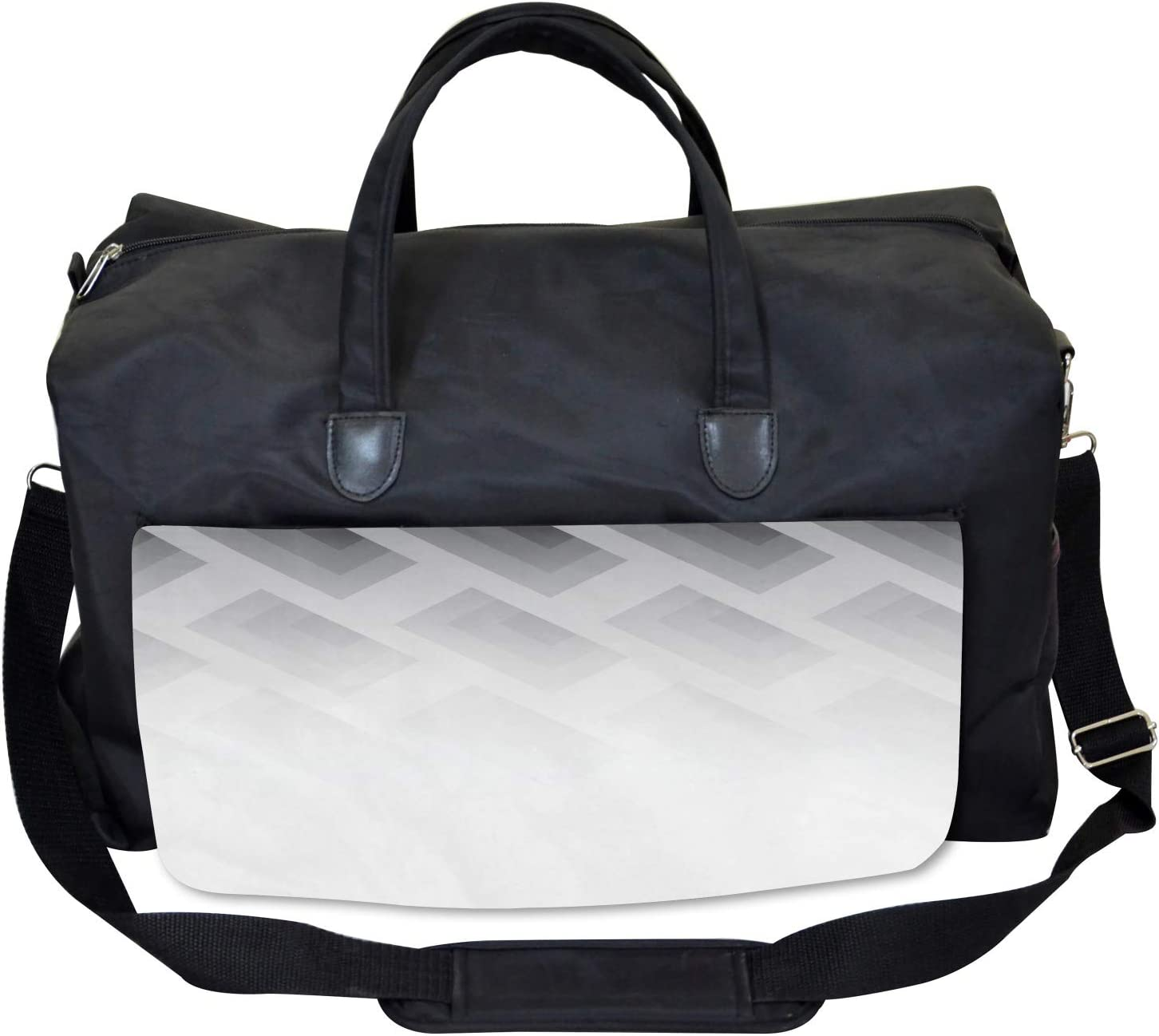 Blur Square Shapes Large Weekender Carry-on Ambesonne Gym Bag