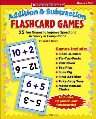 25 Flash Cards (Addition & Subtraction Flashcard Games: 25 Fun Games to Improve Speed and Accuracy in)