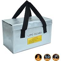 Colorful Lipo Guard Liposack Tasche Lipo Safe Bag feuerfest Sicherheitstasche Brandschutztasche Lipotasche feuerfest brandhemmend Safebag passend für DJI Drone ,260*130*150mm ,Silber
