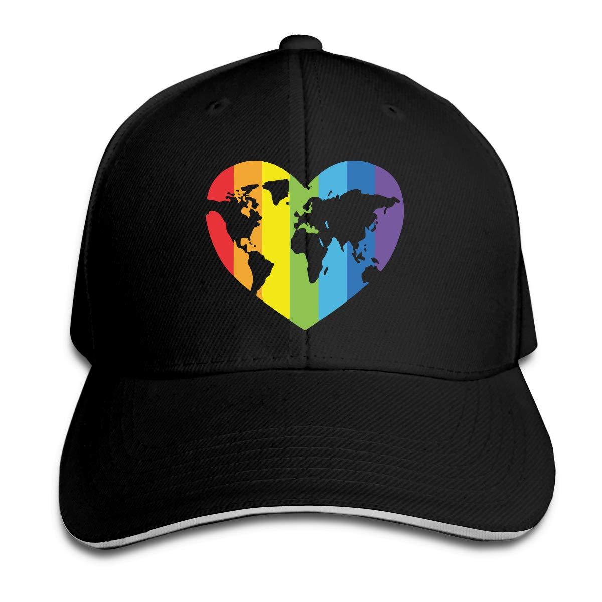 Gay Pride Outdoor Snapback Sandwich Cap Adjustable Baseball Hat Dad Hat