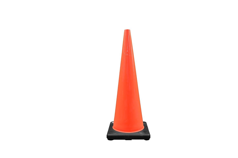 Cortina 03-500-08 Vinyl Traffic Cone with Black Base, 36 Height, Red/Orange by Cortina Cortina Safety