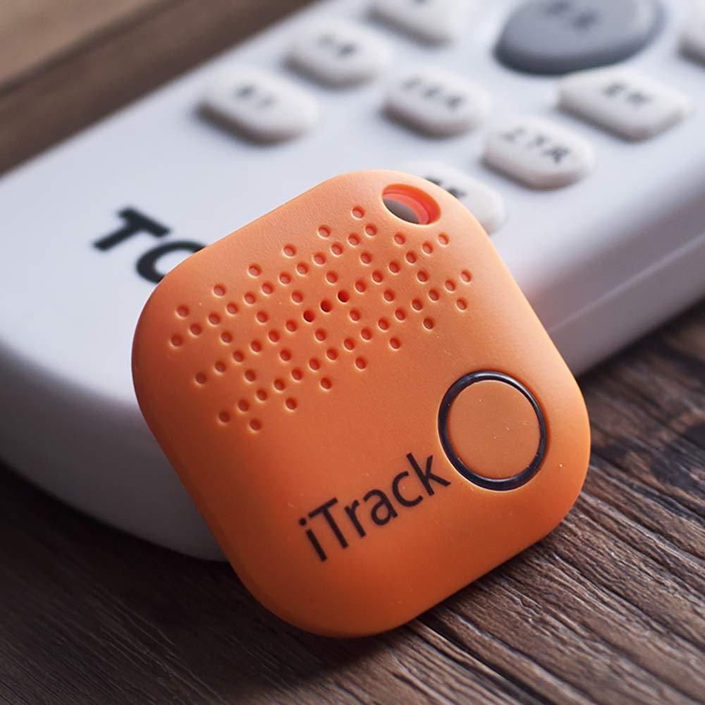 A&C Buscador de Llave, Anti perdida Mini Localizador y Rastreador Alarma para Buscar o Perseguir Carteras/Monedero/Niños/Mascotas/Llaves/Teléfono para iOS/Android (Orange) product image