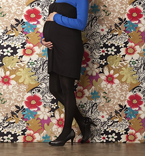 Preggers by Therafirm Maternity Support Tights - 30-40mmHg Firm Compression Stockings (Black, Small Long) by Therafirm (Image #1)