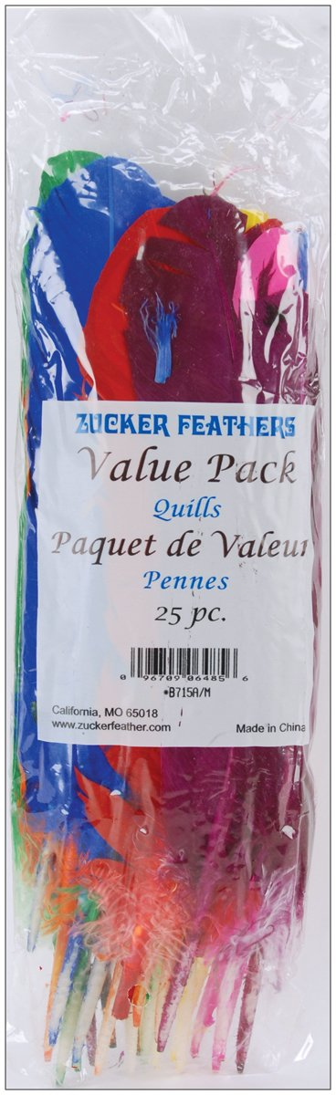 Zucker Feather Products Turkey Quill Value Pack, 25 Count B715M//A