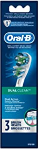 Oral-B Dual Clean Electric Toothbrush Replacement Brush Heads Refill, 3 Count