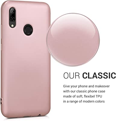 Herbests Compatible with Huawei P Smart Plus 2019 Case 360 Degree Full Body Coverage Case Front and Back TPU Silicone Rubber Case Protective Ultra Slim Soft Crystal Clear TPU Case,Rose Gold