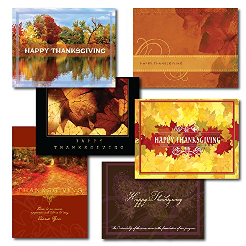 Business Thanksgiving Greeting Card Assortment. Five each of six different designs and verses. Send to clients, employees and business associates.