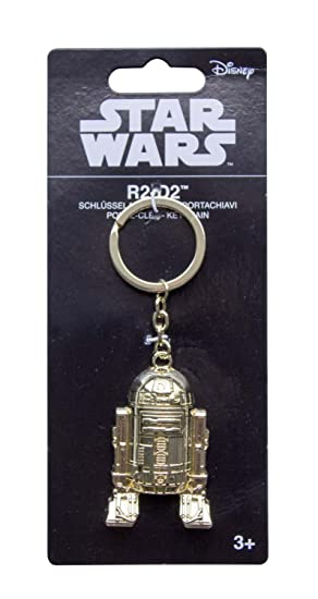 Star Wars 98913 R2-D2 goldiger llavero, unisex de Child